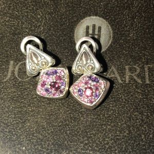 John Hardy pink tourmaline earrings